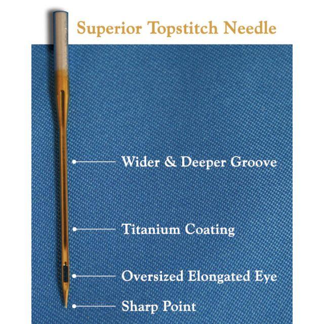 Superior Titanium Topstitch Needles 70/10 by Superior Threads - Machines Needles