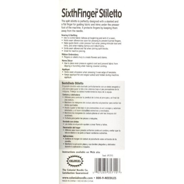 Sixth Finger Stiletto by Colonial Stilletos Awls & Pics - OzQuilts