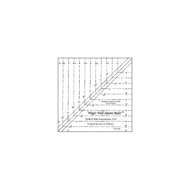 "Magic Half Square Triangle Ruler 6"" by Quilter's Rule International Quilt Blocks - OzQuilts"