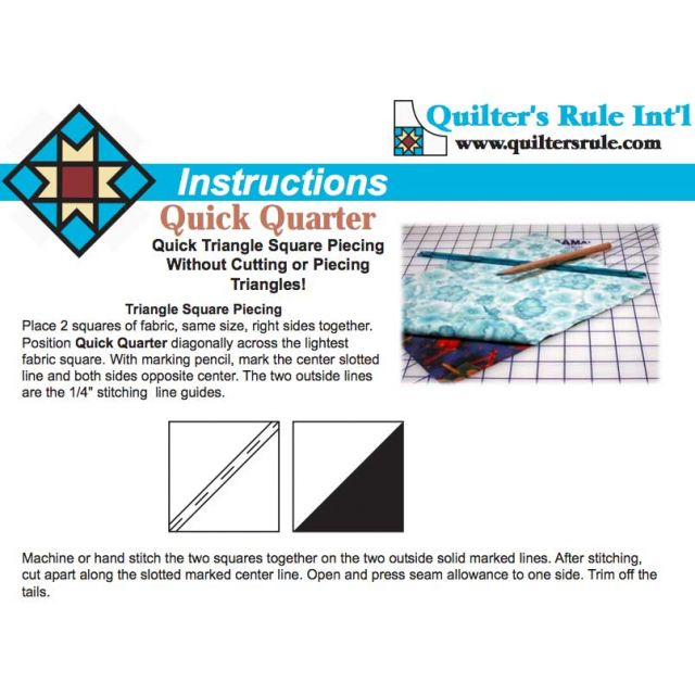"Quick Quarter 8"" Ruler by Quilter's Rule International - Quilt Blocks"