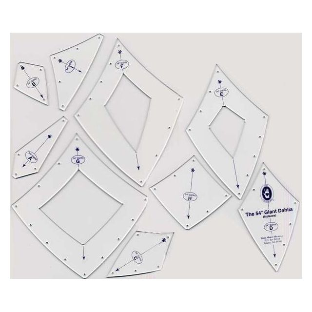 """Marti Michell Giant Dahlia Template Set , 54"""" Diameter Circle by Marti Michell Quilt Blocks - OzQuilts"""