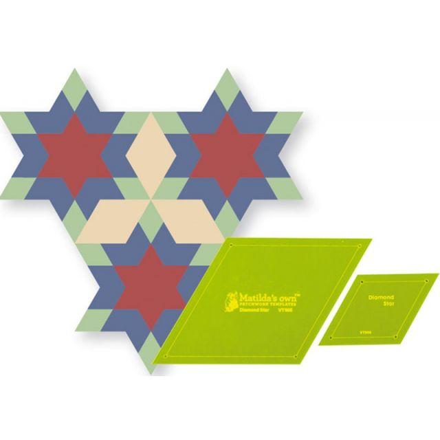 Diamond Star Template Set by Matilda's Own - Quilt Blocks