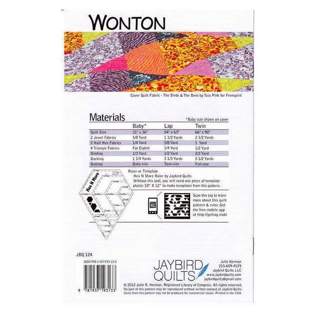 Wonton Quilt Pattern by Jaybird Quilts - Quilt Patterns