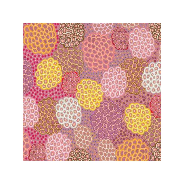Dancing Flowers Pink by June Smith by M & S Textiles - Cut from the Bolt