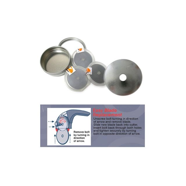 Martelli 45mm Rotary Blades Bulk Pack (30) by Martelli Blades - OzQuilts