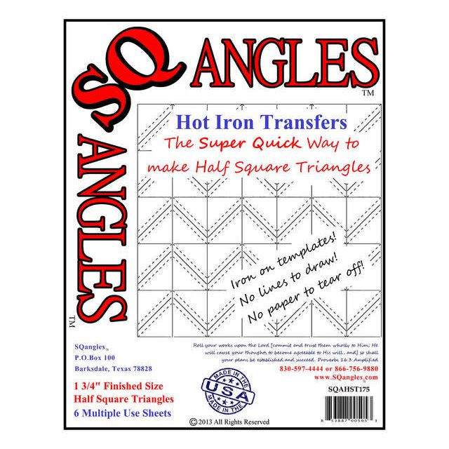 SQangles Half Square Triangle  Iron On Transfers 1 3/4 inch by Sqangles - Sqangles Iron-on Transfer Sheets