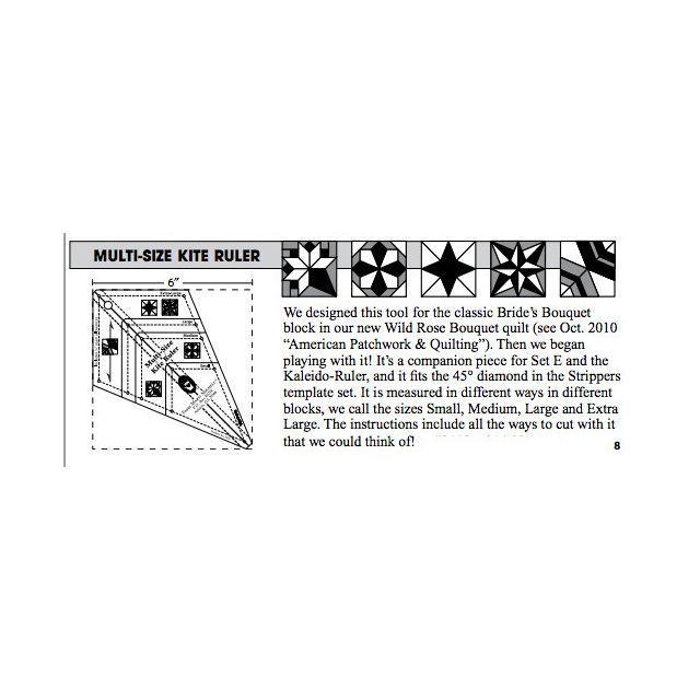 Marti Michell Multi-Size Kite Ruler by Marti Michell Quilt Blocks - OzQuilts