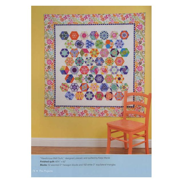 The New Hexagon By Katja Marek by  Modern Quilts - OzQuilts