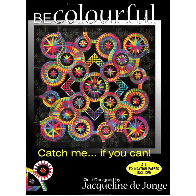 Catch Me If You Can by Jacqueline de Jongue by BeColourful Quilts by Jacqueline de Jongue - Patterns & Foundation Papers