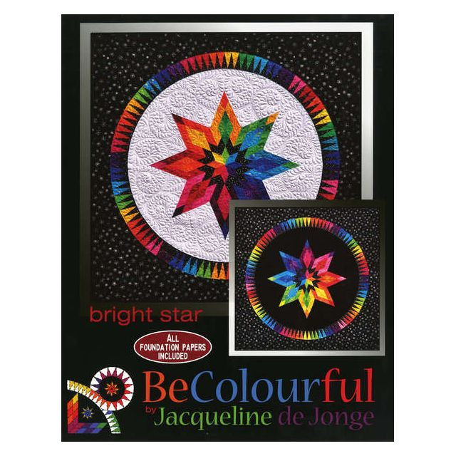 Bright Star Pattern by Jacqueline de Jongue by BeColourful Quilts by Jacqueline de Jongue - Patterns & Foundation Papers