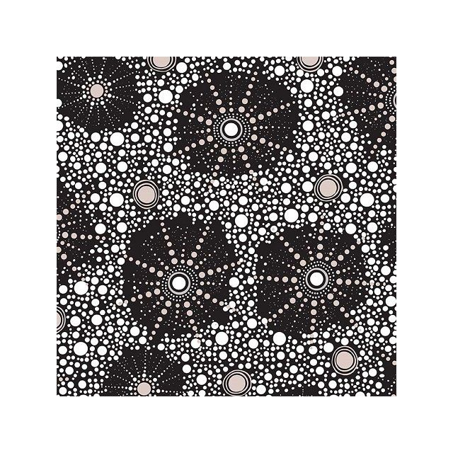 Seven Sisters Black Australian Aboriginal Art Fabric by Marlene Doolan by M & S Textiles Cut from the Bolt - OzQuilts