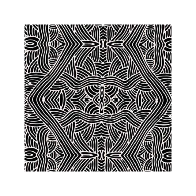 Untitled Black Australian Aboriginal Art Fabric by Nambooka by M & S Textiles - Cut from the Bolt