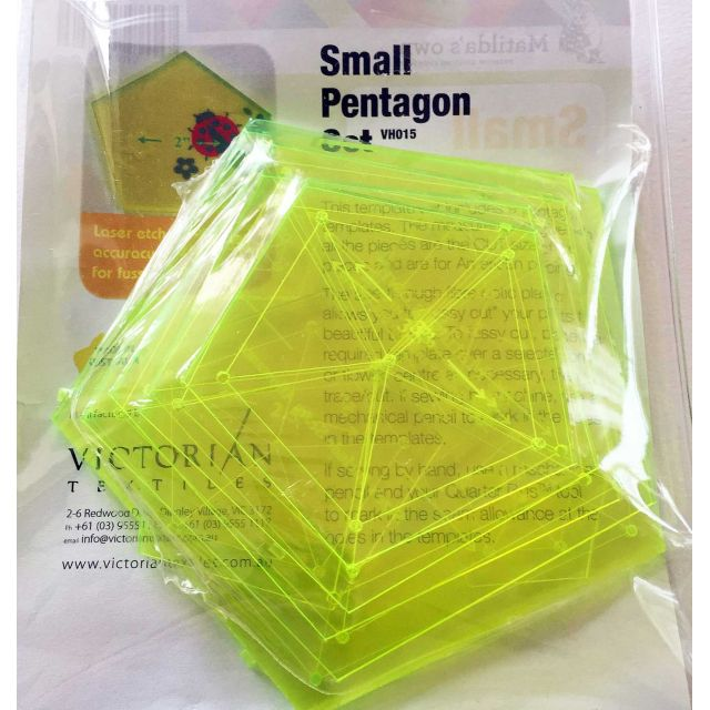 Matilda's Own Small Pentagon Patchwork Template Set by Matilda's Own Geometric Shapes - OzQuilts