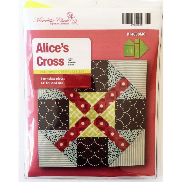 Matildas Own Alice's Cross Patchwork Template Set by Matilda's Own Quilt Blocks - OzQuilts
