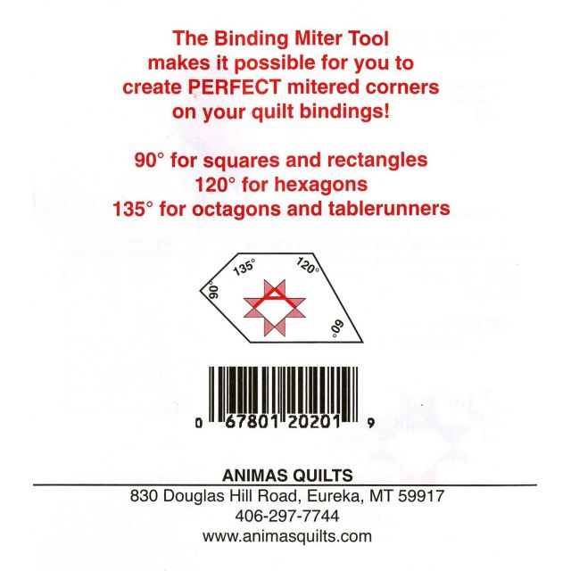 Binding Miter Tool by Other Bias, Binding, Mitering, Piping Rulers - OzQuilts