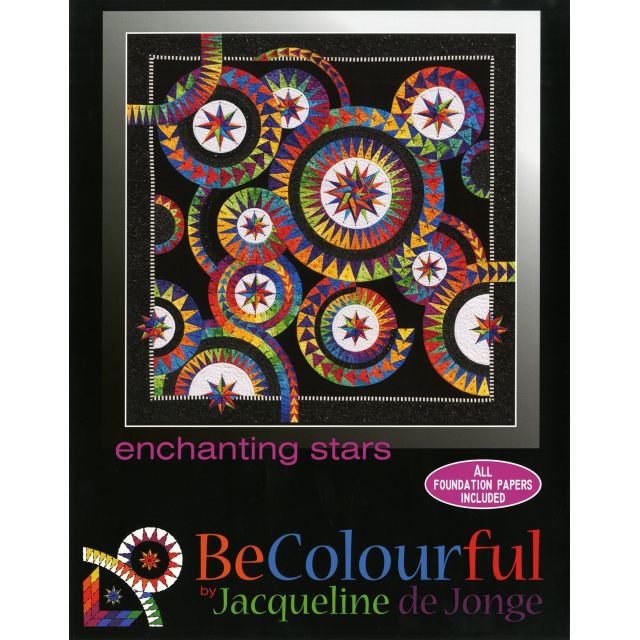 Enchanting Stars Pattern & Foundation Papers by Jacqueline de Jongue by BeColourful Quilts by Jacqueline de Jongue Patterns & Foundation Papers - OzQuilts