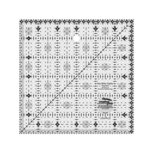 """Creative Grids Itty-Bitty Eights Square Ruler 6"""" x 6"""" by Creative Grids Square Rulers - OzQuilts"""