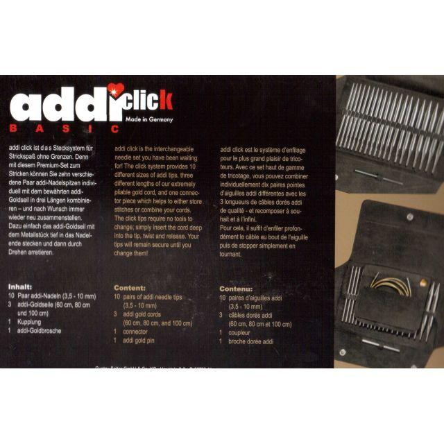 Addi Click Basic Knitting Set by Addi Knitting Needles - OzQuilts