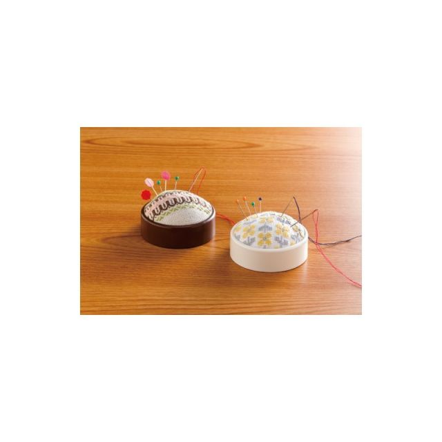 Clover Create-a-Pincushion (Brown) by Clover Organisers for Pins - OzQuilts