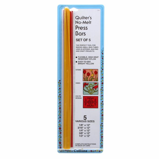 Quilters No-melt Bias Bars 5 Sizes by Collins Bias Tape - OzQuilts