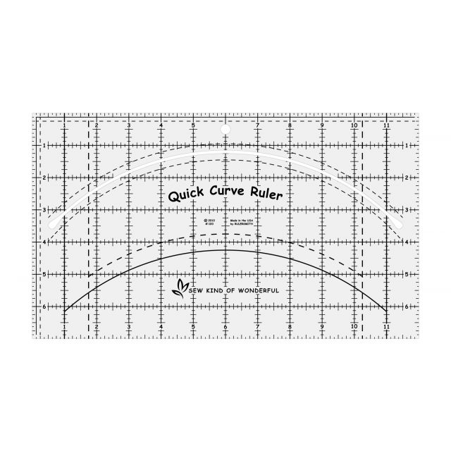 Quick Curve Ruler by Sew Kind of Wonderful Scallops, Wave, Curve Rulers - OzQuilts