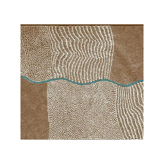 Bush Onion Dreaming in Brown Australian Aboriginal Art Fabric by Jean Nampajinpa by M & S Textiles Cut from the Bolt - OzQuilts