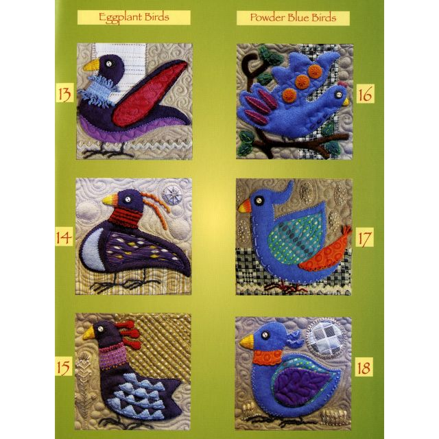 Bird Dance by Sue Spargo by Sue Spargo Sue Spargo - OzQuilts