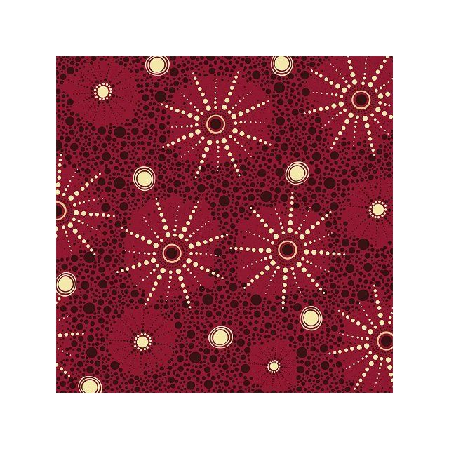 Seven Sister in Red Australian Aboriginal Art Fabric by Marlene Doolan by M & S Textiles Cut from the Bolt - OzQuilts