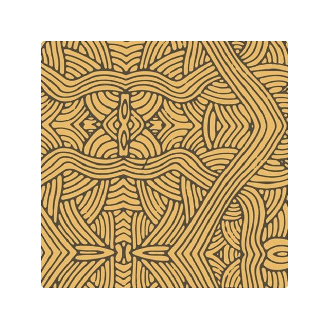 Untitled Gold Australian Aboriginal Art Fabric by Nambooka by M & S Textiles - Cut from the Bolt