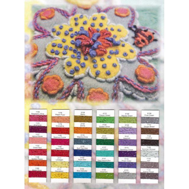 Wonderfil Sue Spargo Dazzle Thread Colour Chart by Wonderfil  Sue Spargo Dazzle Rayon & Metallic - OzQuilts