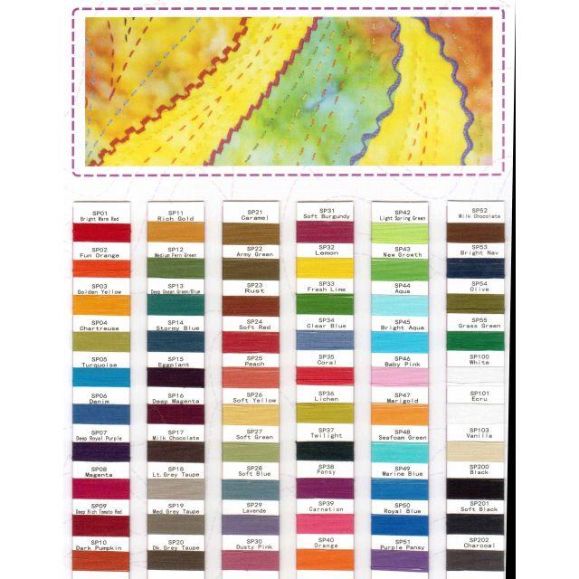 Wonderfil Spagetti Thread Colour Chart by Wonderfil  Thread Colour Charts - OzQuilts