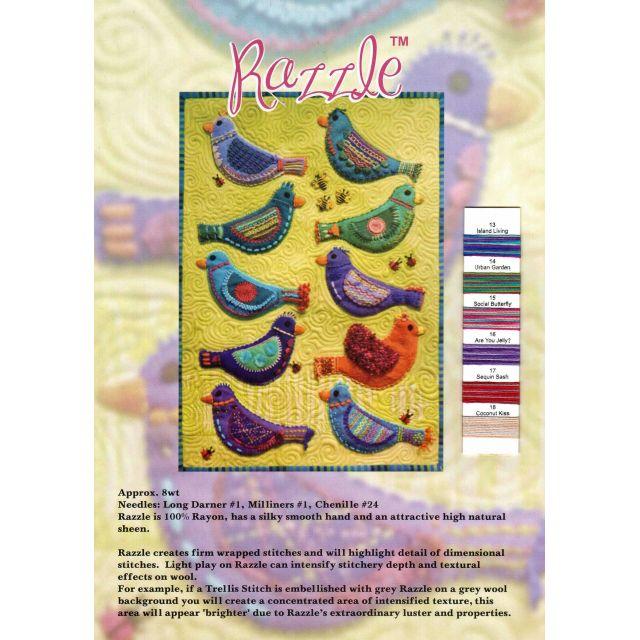 Wonderfil Razzle Sue Spargo Thread Colour Chart by Wonderfil  Sue Spargo Razzle Rayon - OzQuilts