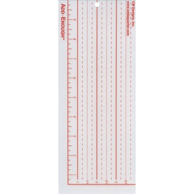 Add-Enough Template by CM Designs Add A Quarter Rulers - OzQuilts