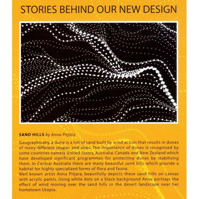 Sandhill Purple Australian Aboriginal Art Fabric by Anna Pitjara by M & S Textiles Cut from the Bolt - OzQuilts