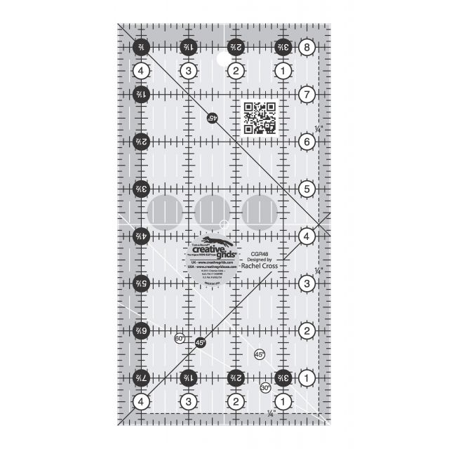 "Creative Grids Ruler 4.5"" x 8.5"" by Creative Grids Rectangle Rulers - OzQuilts"