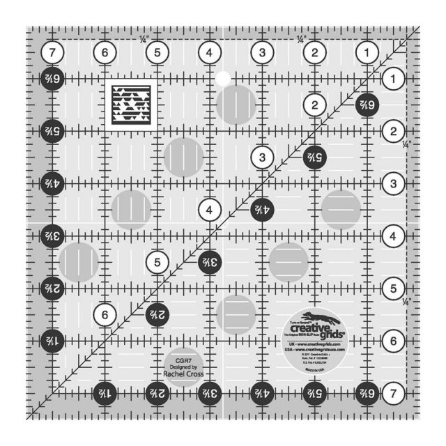"""Creative Grids Ruler 7.5"""" Square by Creative Grids Square Rulers - OzQuilts"""