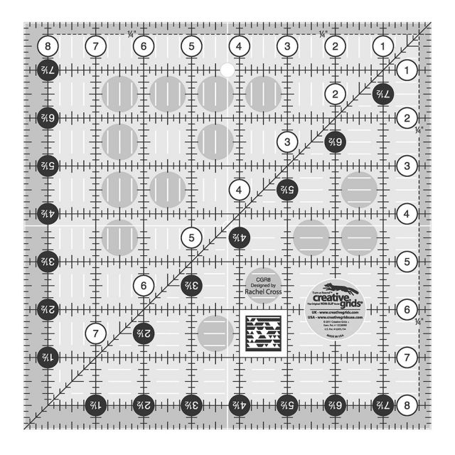 "Creative Grids Ruler 8.5"" Square by Creative Grids Square Rulers - OzQuilts"