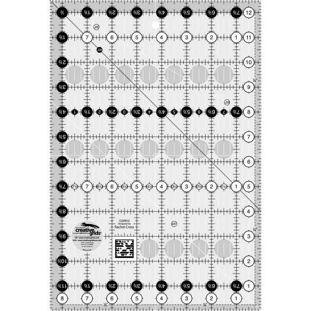 "Creative Grids Ruler 8.5"" x 12.5"" by Creative Grids Rectangle Rulers - OzQuilts"