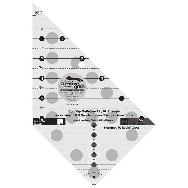 Creative Grids Multi-size 45 & 90 Degree Triangle Ruler by Creative Grids - Triangles 90 Degrees