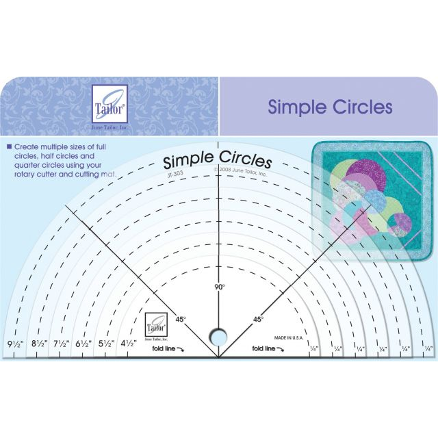 June Tailor Simple Circles Acrylic Template Set by June Tailor Geometric Shapes - OzQuilts