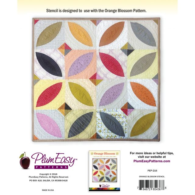 Orange Blossom Stencil by  Applique Templates - OzQuilts
