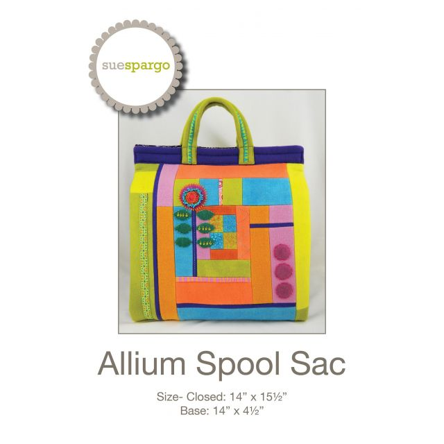 Allium Spool Sac Thread Organiser Pattern by Sue Spargo by Sue Spargo Sue Spargo - OzQuilts