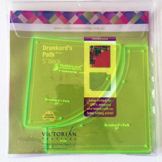 "Matilda's Own Drunkards Path 5"" Patchwork Template Set by Matilda's Own Quilt Blocks - OzQuilts"