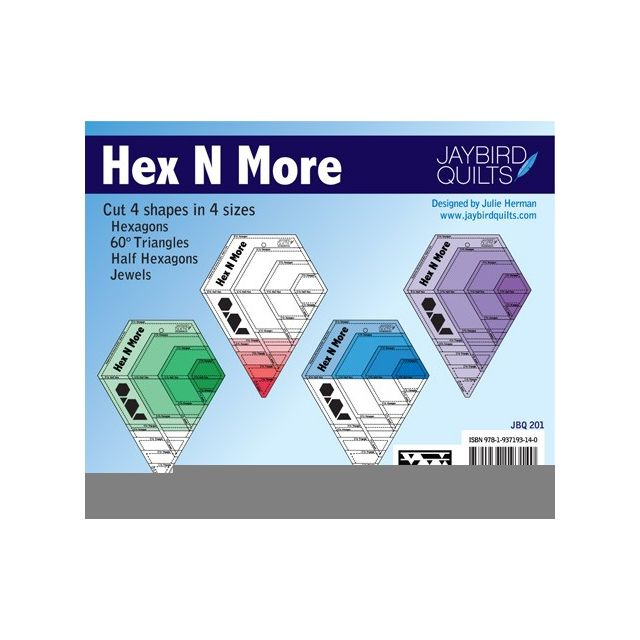Hex N More Ruler by Jaybird Quilts by Jaybird Quilts Hexagon Rulers - OzQuilts