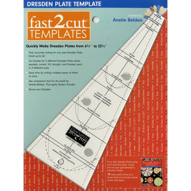 Fast2cut Dresden Plate Template by C&T Publishing - Wedge Rulers