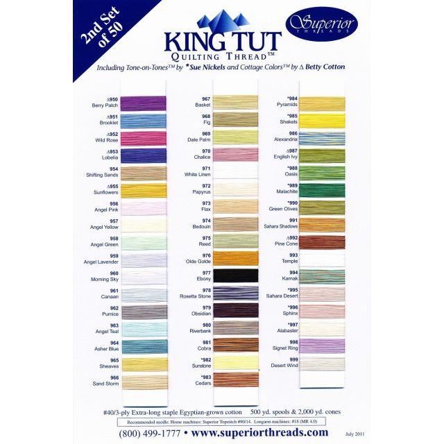 Superior King Tut Cotton, Cleopatra, 500 Yard Spool by Superior King Tut Thread King Tut Cotton Thread 500 Yards - OzQuilts