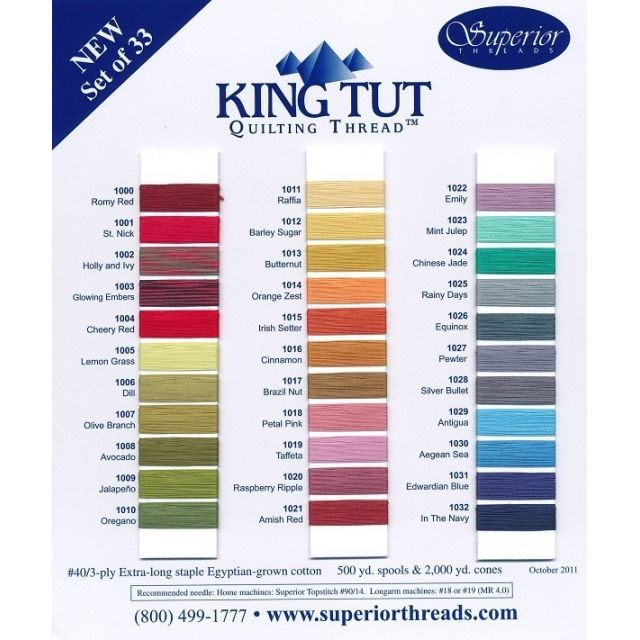 Superior King Tut Cotton, Joseph's Coat, 500 Yard Spool by Superior King Tut Thread King Tut Cotton Thread 500 Yards - OzQuilts