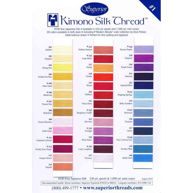 Superior Kimono Silk (100) Thread 220 Yards - 374 MIKIMOTO by Superior Kimono Silk Thread Kimono Silk Thread  - OzQuilts