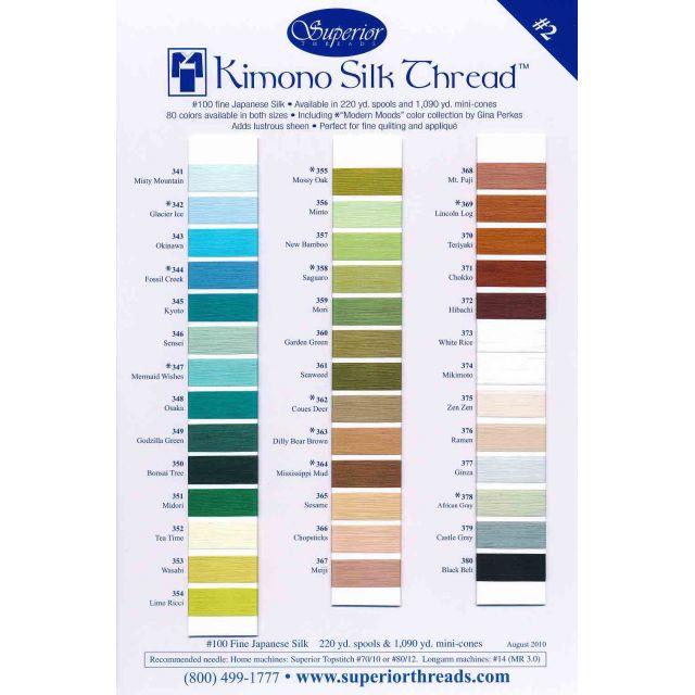 Superior Kimono Silk (100) Thread 220 Yards - 342 GLACIER ICE by Superior Kimono Silk Thread - Kimono Silk Thread