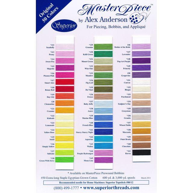 MasterPiece Cotton Thread 600 yds -131 Monet by Superior Masterpiece Thread Masterpiece Cotton Thread - OzQuilts